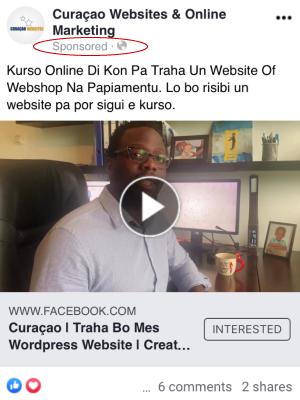Curaçao Social Media Advertisment